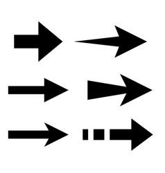 arrows flat black icons vector image