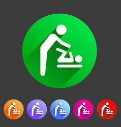 Baby mother care room symbol icon flat web sign vector