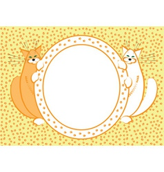 Background with funny fat cats vector