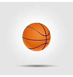 Basketball ball isolated on white with shadow vector