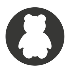 bear teddy cute animal character farm vector image