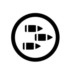 bullet icons isolated three black bullets in vector image