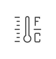 celsius fahrenheit temperature line outline icon vector image
