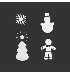 Christmas Stencil vector image