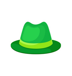 classic green hat for men on vector image