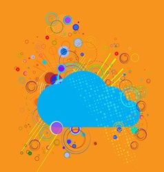 Cloud on abstract background vector