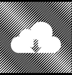 Cloud technology sign icon hole in moire vector
