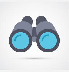colored binoculars trendy symbol vector image