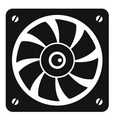computer fan icon simple style vector image
