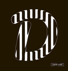 d letter formed parallel lines a letter made vector image