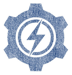 Electric cogwheel fabric textured icon vector
