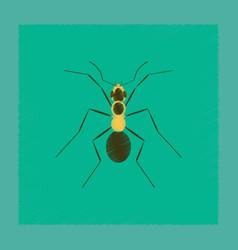 Flat shading style cartoon ant vector