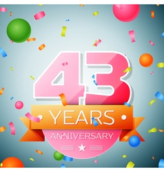 Forty three years anniversary celebration vector image