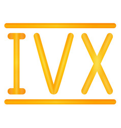 Golden roman numerals set vector