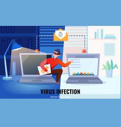 hacker computers composition vector image