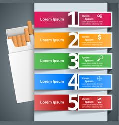 harmful cigarette viper smoke business vector image