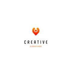 Human location creative business logo design vector