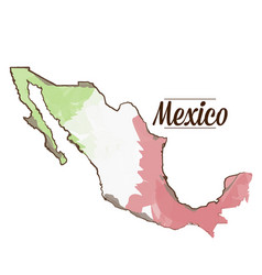 Isolated mexican map vector
