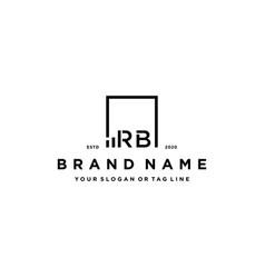 Letter rb square logo finance design vector