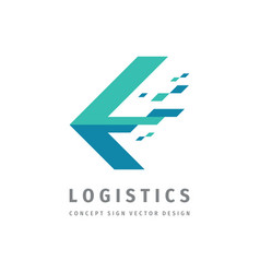 Logistic company - concept business logo template vector