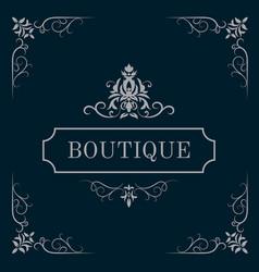 Luxury logo template vector