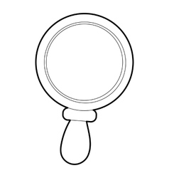 Magnifier icon outline style vector image