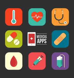 medical apps vector image