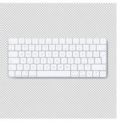 modern aluminum computer keyboard isolated vector image