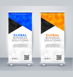 modern rollup standee banner template vector image