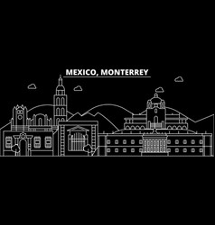 monterrey silhouette skyline mexico - monterrey vector image
