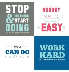 Motivational posters on the sport healthy vector image