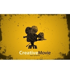 movie logo Creative movie design Camera logo vector image