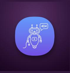 Not found error chatbot app icon vector