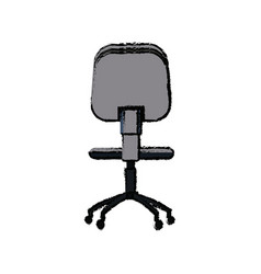 Office chair seat comfort wheel icon vector