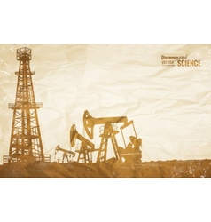 Oil plant design vector