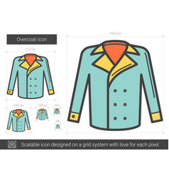 Overcoat line icon vector