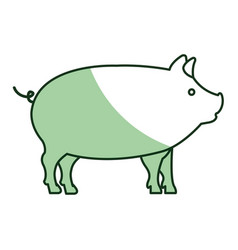 Pig animal farm isolated icon vector
