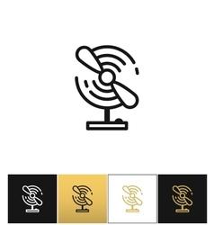 Portable electric fan line icon vector