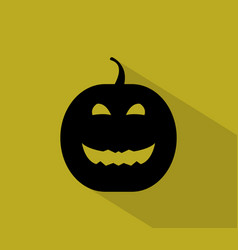 pumpkin halloween icon vector image