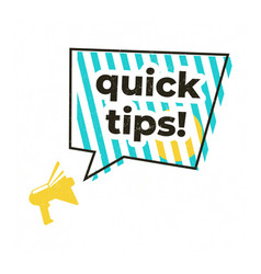Quick tips megaphone label isolated vector