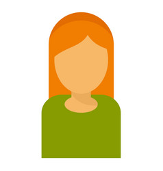 red hair woman avatar icon flat style vector image
