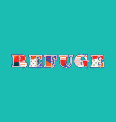 Refuge concept word art vector