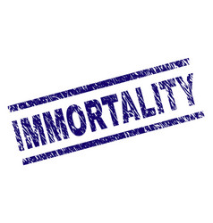Scratched textured immortality stamp seal vector