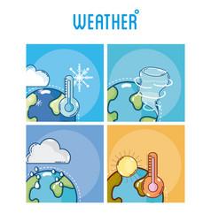 Set of weather frames vector