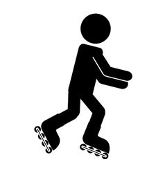 skate sport isolated icon design vector image