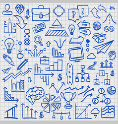 sketch icons set business vector image