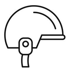 Snowboarding helmet icon outline style vector