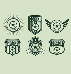 soccer icons2 vector image