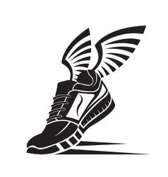 Sport shoe icon vector
