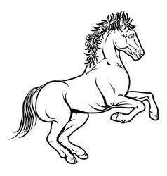 stylised horse vector image